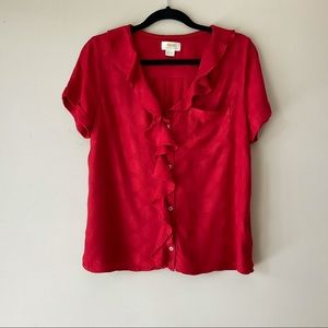 Maeve by Anthropologie Red Blouse Size M